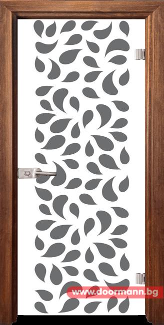 Стъклена врата модел Print 13-1 - Златен дъб