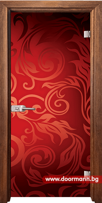 Стъклена врата модел Print 13-11 - Златен дъб