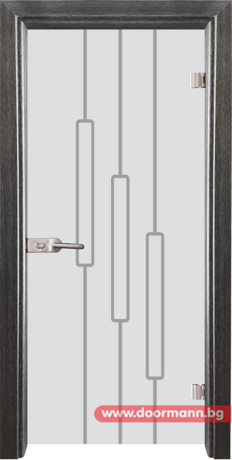 Стъклена врата модел Sand 14-11 - Сив кестен